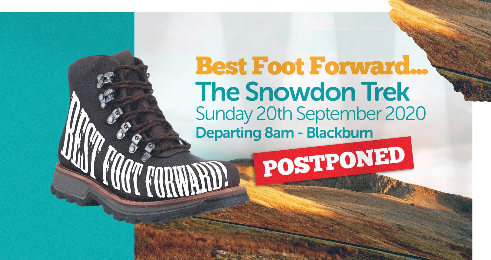 Banner image of Snowdon Trek Event with a hiking boot